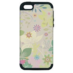Flower Rainbow Star Floral Sexy Purple Green Yellow White Rose Apple Iphone 5 Hardshell Case (pc+silicone)