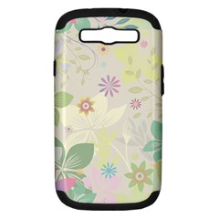 Flower Rainbow Star Floral Sexy Purple Green Yellow White Rose Samsung Galaxy S Iii Hardshell Case (pc+silicone)