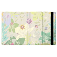 Flower Rainbow Star Floral Sexy Purple Green Yellow White Rose Apple Ipad 3/4 Flip Case