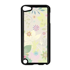 Flower Rainbow Star Floral Sexy Purple Green Yellow White Rose Apple Ipod Touch 5 Case (black)