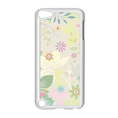 Flower Rainbow Star Floral Sexy Purple Green Yellow White Rose Apple Ipod Touch 5 Case (white)