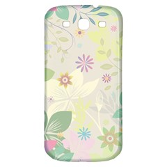 Flower Rainbow Star Floral Sexy Purple Green Yellow White Rose Samsung Galaxy S3 S Iii Classic Hardshell Back Case