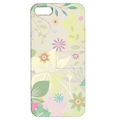 Flower Rainbow Star Floral Sexy Purple Green Yellow White Rose Apple Iphone 5 Hardshell Case With Stand