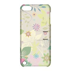 Flower Rainbow Star Floral Sexy Purple Green Yellow White Rose Apple Ipod Touch 5 Hardshell Case With Stand