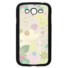 Flower Rainbow Star Floral Sexy Purple Green Yellow White Rose Samsung Galaxy Grand Duos I9082 Case (black)