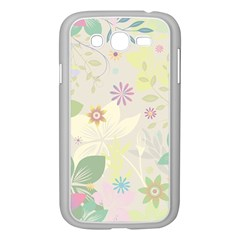 Flower Rainbow Star Floral Sexy Purple Green Yellow White Rose Samsung Galaxy Grand Duos I9082 Case (white)