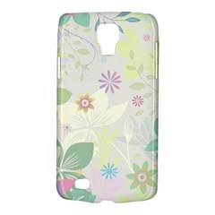 Flower Rainbow Star Floral Sexy Purple Green Yellow White Rose Galaxy S4 Active