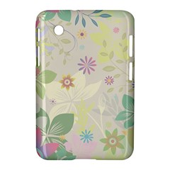 Flower Rainbow Star Floral Sexy Purple Green Yellow White Rose Samsung Galaxy Tab 2 (7 ) P3100 Hardshell Case