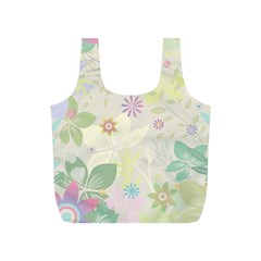 Flower Rainbow Star Floral Sexy Purple Green Yellow White Rose Full Print Recycle Bags (s)