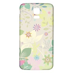 Flower Rainbow Star Floral Sexy Purple Green Yellow White Rose Samsung Galaxy S5 Back Case (white)