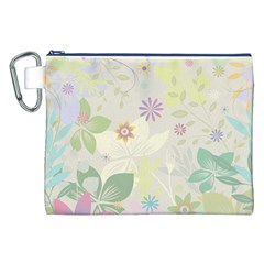 Flower Rainbow Star Floral Sexy Purple Green Yellow White Rose Canvas Cosmetic Bag (xxl)