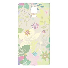 Flower Rainbow Star Floral Sexy Purple Green Yellow White Rose Galaxy Note 4 Back Case