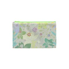 Flower Rainbow Star Floral Sexy Purple Green Yellow White Rose Cosmetic Bag (xs)