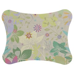 Flower Rainbow Star Floral Sexy Purple Green Yellow White Rose Jigsaw Puzzle Photo Stand (bow)
