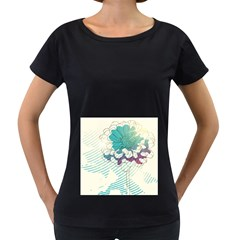 Flower Rose Purple Sunflower Lotus Women s Loose Fit T Shirt (black)