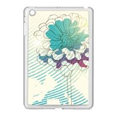 Flower Rose Purple Sunflower Lotus Apple Ipad Mini Case (white)