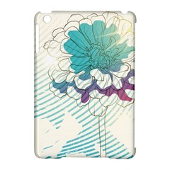 Flower Rose Purple Sunflower Lotus Apple Ipad Mini Hardshell Case (compatible With Smart Cover)