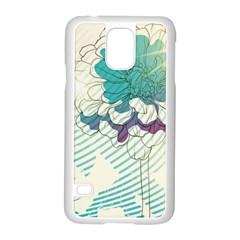 Flower Rose Purple Sunflower Lotus Samsung Galaxy S5 Case (white)
