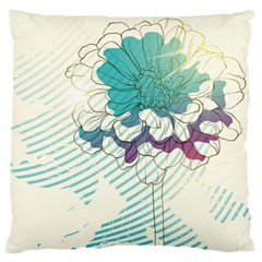 Flower Rose Purple Sunflower Lotus Large Flano Cushion Case (one Side)