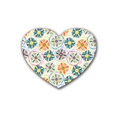 Flower Rainbow Fan Sunflower Circle Sexy Heart Coaster (4 Pack)