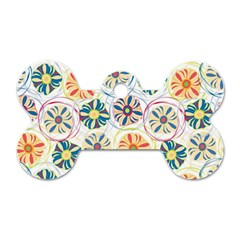 Flower Rainbow Fan Sunflower Circle Sexy Dog Tag Bone (two Sides)