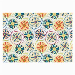 Flower Rainbow Fan Sunflower Circle Sexy Large Glasses Cloth (2 Side)