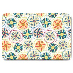Flower Rainbow Fan Sunflower Circle Sexy Large Doormat