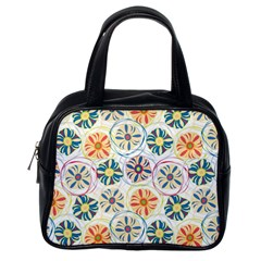 Flower Rainbow Fan Sunflower Circle Sexy Classic Handbags (one Side)