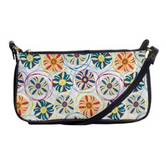 Flower Rainbow Fan Sunflower Circle Sexy Shoulder Clutch Bags