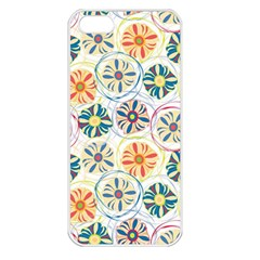 Flower Rainbow Fan Sunflower Circle Sexy Apple Iphone 5 Seamless Case (white)