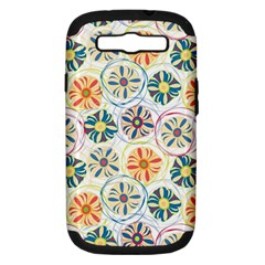 Flower Rainbow Fan Sunflower Circle Sexy Samsung Galaxy S Iii Hardshell Case (pc+silicone)