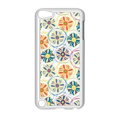 Flower Rainbow Fan Sunflower Circle Sexy Apple Ipod Touch 5 Case (white)