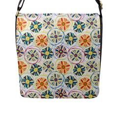 Flower Rainbow Fan Sunflower Circle Sexy Flap Messenger Bag (l)