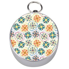 Flower Rainbow Fan Sunflower Circle Sexy Silver Compasses
