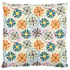 Flower Rainbow Fan Sunflower Circle Sexy Large Flano Cushion Case (two Sides)