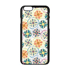 Flower Rainbow Fan Sunflower Circle Sexy Apple Iphone 6/6s Black Enamel Case