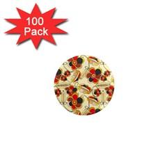 Flower Seed Rainbow Rose 1  Mini Magnets (100 Pack)