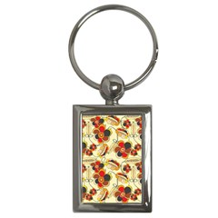 Flower Seed Rainbow Rose Key Chains (rectangle)