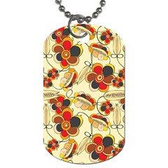 Flower Seed Rainbow Rose Dog Tag (two Sides)