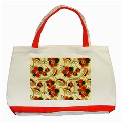 Flower Seed Rainbow Rose Classic Tote Bag (red)