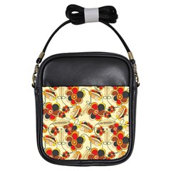 Flower Seed Rainbow Rose Girls Sling Bags