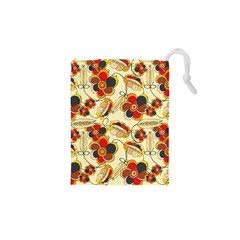Flower Seed Rainbow Rose Drawstring Pouches (xs)