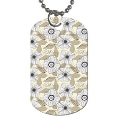 Flower Rose Sunflower Gray Star Dog Tag (two Sides)