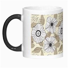 Flower Rose Sunflower Gray Star Morph Mugs
