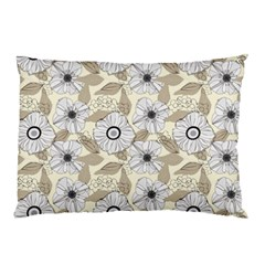 Flower Rose Sunflower Gray Star Pillow Case