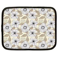 Flower Rose Sunflower Gray Star Netbook Case (xl)