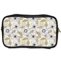 Flower Rose Sunflower Gray Star Toiletries Bags 2 Side