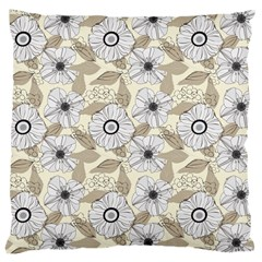 Flower Rose Sunflower Gray Star Large Cushion Case (two Sides)