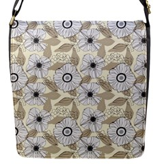 Flower Rose Sunflower Gray Star Flap Messenger Bag (s)
