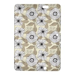 Flower Rose Sunflower Gray Star Kindle Fire Hdx 8 9  Hardshell Case
